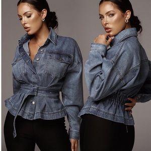 Jackets & Blazers - Belted Denim Jacket